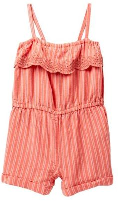 377d6efc0e Joe Fresh Striped Gauze Romper (Baby Girls)  babygirl