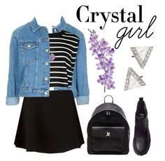 """""""[ Crystal Girl ]"""" by demigeorgia ❤ liked on Polyvore featuring moda, Topshop, TIBI, Neil Barrett, H&M, Laura Cole, Alexander Wang, Delicates by Paloma & Ellie e Helix & Felix"""