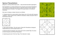 Crease Pattern (CP) for my Sprout Tessellation.  These instructions can also be…
