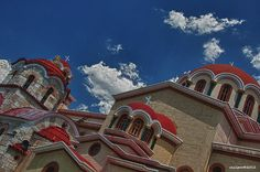 This photo from Attiki, Attica is titled 'Orthodox Church II'. Photo Work, Mansions, House Styles, Painting, Home Decor, Decoration Home, Manor Houses, Room Decor, Villas