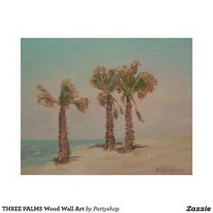 THREE PALMS Wood Wall Art
