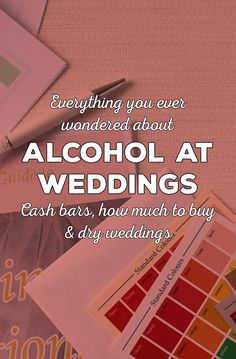 alcohol at weddings buying for byo