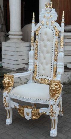 Corner Sofa Design, Living Room Sofa Design, Home Room Design, Bed Design, Royal Furniture, Luxury Furniture, Furniture Design, King Throne Chair, Fancy Living Rooms