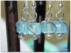 Happy Hour Projects: Sea Glass Wire Wrapped Earrings from NorthShore Days