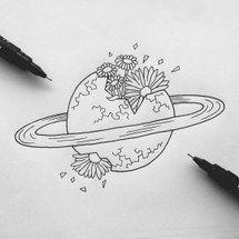 art, design, drawing, flowers, illustration