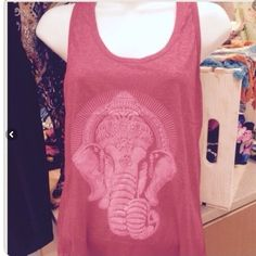 Gorgeous free size red Ganesha tank Free size lord Ganesha tank, remover of all obstacles:) one left! Size med Handmade Tops
