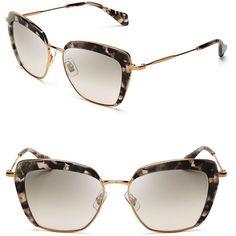 71d0c971125c Miu Miu Frame Evolution Oversized Cat Eye Sunglasses featuring polyvore