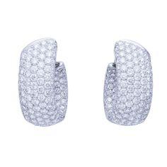 Cartier France Diamond White Gold Earrings | $65,000