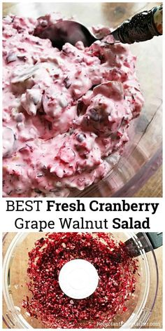 Low Carb Recipes To The Prism Weight Reduction Program Best Fresh Cranberry Grape Walnut Salad Is A Sweet And Tart Side Dish, Perfect For Thanskgiving Or The Holidays Via Sandycoughlin Grape Salad, Sweet Desserts, Sweet Recipes, Dessert Recipes, Dessert Salads, Fruit Salads, Top Recipes, Delicious Recipes, Cookies