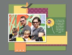 My Digital Studio double page layout by Kriss Huels, Stampin' Up!