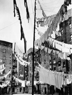 Court of the First Model Tenements in New York City, 361-365 East 71st Street  by Berenice Abbott