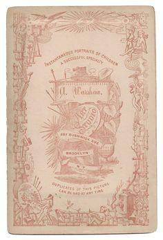 Carte de Visite ~ Vintage photo back