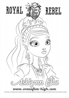 Ever After High Ashlynn Ella Coloring Pages