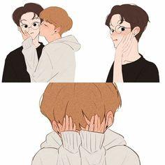Couple Silhouette, Couple Aesthetic, Kpop Fanart, Gay Art, Anime, Taekook, Nct Dream, Nct 127, Photo Art
