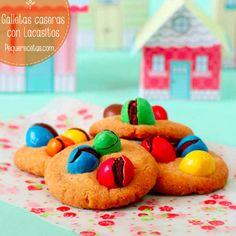Receta de galletas de Lacasitos, una receta para cocinar con niños muy fácil y divertida