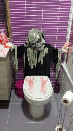 Decoracion baño halloween