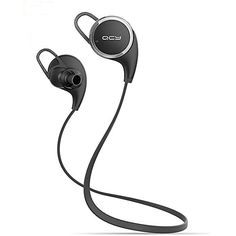 Matone® Qy8 [New Version Qy7] V4.1 Wireless Bluetooth Headphones Best In-Ear Noise Cancelling Headphones with Microphone for Running, Sports & Exercise, Mini Lightweight Sweatproof Stereo Bass Wireless Bluetooth Earbuds Headset Earphones for Apple Watch, iPhone 6, 6 Plus, 5 5c 5s 4, iPad 2 3 4, Mini Air 2, iPod Touch, Samsung Galaxy S6 S5 S4 S3, Note 2 3 4, LG G3 G4, HTC, Android Smart Phones & Tablets Bluetooth Devices with Discount Matone…
