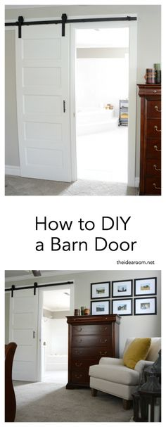 DIY | Tutorial | Barn Door Tutorial | Home Improvement Projects | Sharing how we installed a Barn Door in our Master Bedroom. We restored an old door and turned it into a beautiful modern barn door.