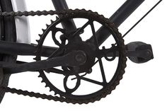 The chain wheel of an Inspector's Bicycle, with the initials GPO (General Post Office) worked into the design. General Post Office, Cannon, Cycling, Guns, Bicycles, Vehicles, Initials, Museum, Chain