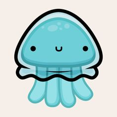 bubbly animal animated stickers  Jellyfish by squidandpig  www.squidandpig.com