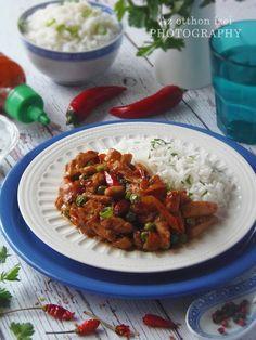 Az otthon ízei: Szecsuáni csirke Risotto, Grains, Rice, Ethnic Recipes, Food, Essen, Meals, Seeds, Yemek