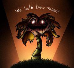 Flowey has something in common. Alternate Version Art belongs to me. Do not copy or reupload. We both know misery. Flowey Undertale, Undertale Comic Funny, Undertale Memes, Undertale Fanart, Brain Bleach, Flowey The Flower, Shadow The Hedgehog, Chara, Art World
