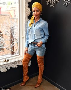 In the limelight: Jada Pinkett Smith attended the Feature Film Jury Orientation Breakfast at Cafe Terigo in Park City, Utah, on Friday
