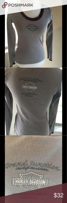 Harley-Davidson Long sleeve gray - few embellishments are missing Harley-Davidson Tops Tees - Long Sleeve