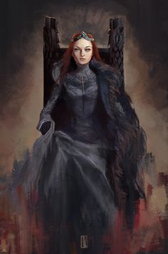 Queen in the North by KuroCyou on DeviantArt Arte Game Of Thrones, Game Of Thrones Artwork, Game Of Thrones Characters, Valar Dohaeris, Valar Morghulis, Sansa Stark, Winter Is Here, Winter Is Coming, Game Of Thones