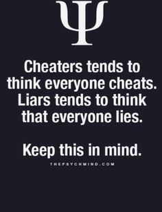So true... Curt always expected everyone else to cheat and lie like he did. It was normal life for him... So sad.... Then he found his perfect reflection in Amanda... And I am free....
