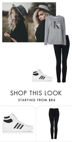 """""""Sophia#9"""" by croonessii ❤ liked on Polyvore featuring adidas Originals, Topshop and Calvin Klein Jeans"""