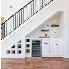 Under Stairs Design Ideas Wet Bar – Basement İdeas 2020 Under Basement Stairs, Bar Under Stairs, Kitchen Under Stairs, Basement Ceilings, Basement Bars, Storage Under Stairs, Basement Storage, Closet Storage, Staircase Storage
