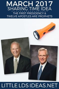 March 2017 Week 2 Sharing Time Idea. This fun flashlight activity from Little LDS Ideas will help the children learn about the First Presidency and the Quorum of the Twelve. via @https://www.pinterest.com/littleldsideas/