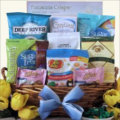 Easter wishes small gourmet easter gift basket this delightful happy easter sugar free gourmet easter gift basket easter doesnt have negle Images