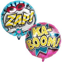 Superhero Girl Foil Balloon on BirthdayExpress.com - It's a bird! It's a plane! It's... a power-packed foil balloon! With ZAP! on one side and KA-BOOM! on the other, it looks great from any angle, no matter what super powers you may have!