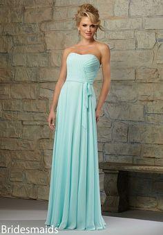 Bridesmaids Dresses Chiffon Matching Tie Sash. Available in All Mori lee Bridesmaids Chiffon Colors