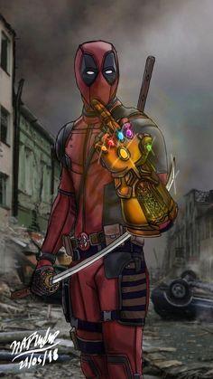 Deadpool says F**k You Thanos by on DeviantArt Deadpool Images, Deadpool Pictures, Deadpool Art, Deadpool Funny, Deadpool Quotes, Deadpool Tattoo, Marvel Wolverine, Thanos Marvel, Marvel Dc Comics