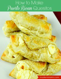 Learn how to make quesitos with this easy quesitos recipe that is sure to please your family and guests! Puerto Rican quesitos make a great entertaining dessert!