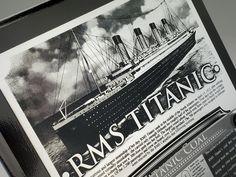 White Star Line RMS Titanic Plaque - w/ Actual Coal Fragment & COA - Ltd. Qtys.