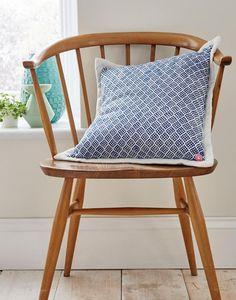 BLUE WOVEN Cushion