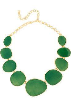 Kenneth Jay Lane - 18-karat gold-plated necklace