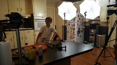 Kade on the set
