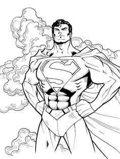 free coloring pages superman.html