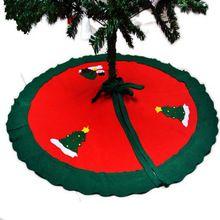 90 CM Venda Saias Da Árvore De Natal Decorações de Natal de Ano Novo Avental de Natal Papai Noel Boneco de Neve enfeites de itens de acessórios suprimentos alishoppbrasil