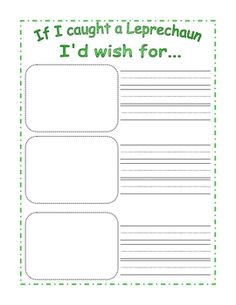Free Simple St. Patrick's Day writing prompt