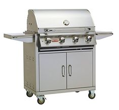 Bull Outdoor Products 87002 NG Lonestar Select Natural Gas Grill on Cart Natural Gas -- Click image to review more details.