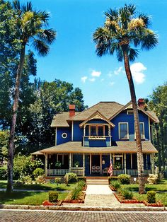 Higgins House and palm trees, Sanford | Florida (by Steven...