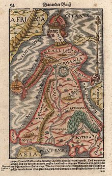 Europe As A Queen Sebastian Munster 1570 - Habsburg Monarchy - Wikipedia, the free encyclopedia