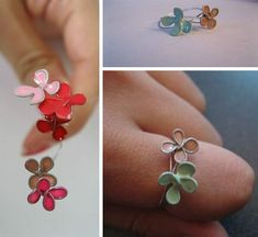 Stained Glass Flower Ring Tutorial