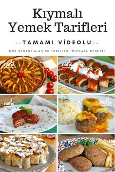 The best minced meat recipes are here with video presentations! With 15 different dishes, all tried and tested, you can prepare cutting dishes for chic Mince Recipes, Crockpot Recipes, Turkish Recipes, Ethnic Recipes, Minced Meat Recipe, Cooking Tips, Cooking Recipes, Kebab, Iftar